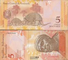 Venezuela Pick-number: 89c Uncirculated 2008 5 Bolivares - Venezuela