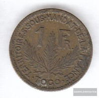 Togo 2 1925 Very Fine Aluminum-Bronze Very Fine 1925 1 Franc Laureate - Togo