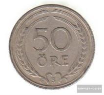 Sweden Km-number. : 796 1924 Very Fine Nickel-Bronze Very Fine 1924 50 Öre Gekröntes Monogram - Sweden