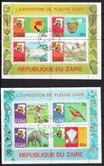 T 00165 - Zaire  Blocs N° 8 Et 9  Oblitérés, Côte 15.30 € - Stamps