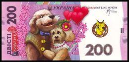UKRAINE. 2018 - YEAR OF THE DOG. 200 UAH. BELOVED PAIR. Funny Pocket Calendar - Calendars