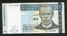 MALAWI - RESERVE BANK Of MALAWI - 200 KWACHA (2003) - Malawi