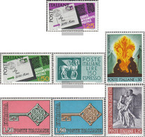 Italy 1251-1252,1270,1271, 1272-1273,1274 (complete Issue) Unmounted Mint / Never Hinged 1968 Postcodes, EilmArke, U.A. - 6. 1946-.. Republic