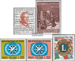 Italy 1241,1242,1243-1244,1245 (complete Issue) Unmounted Mint / Never Hinged 1967 Giordano, Pontida, Tourism, Lions - 6. 1946-.. Republic