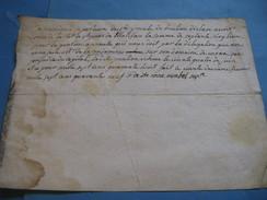 RARE PIECE SIGNEE DE LA MERE SUPERIEURE RELGIEUSE DE SAINTE-URSULE DE BOULIEU 1749 ARDECHE PENSION LA CONDAMINE - Autógrafos