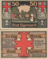 Bad Pyrmont Notgeld: Notgeldschein The City Bad Pyrmont Uncirculated 1921 50 Pfenning Bad Pyrmont - Austria