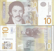 Serbia Pick-number: 54b Uncirculated 2013 10 Dinara - Serbia