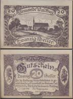 Waldburg Notgeld The Community Waldburg Uncirculated 1920 20 Bright - Austria