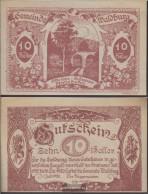 Waldburg Notgeld The Community Waldburg Uncirculated 1920 10 Bright - Austria