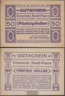 Stadl-Paura Notgeld The Community Stadl-Paura Uncirculated 1920 50 Bright - Austria