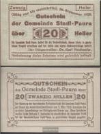 Stadl-Paura Notgeld The Community Stadl-Paura Uncirculated 1920 20 Bright - Austria
