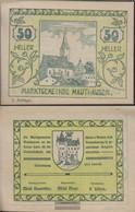 Mauthausen Notgeld The Community Mauthausen Uncirculated 1920 50 Bright - Austria