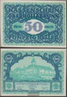 Oberhollabrunn Notgeld The Community Oberhollabrunn Uncirculated 1920 50 Bright - Austria
