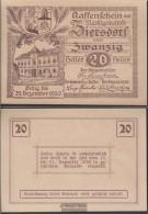 Ziersdorf Notgeld The Market Town Ziersdorf Uncirculated 1920 20 Bright - Austria