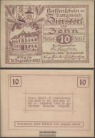 Ziersdorf Notgeld The Market Town Ziersdorf Uncirculated 1920 10 Bright - Austria
