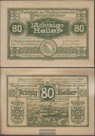 Kremsmünster Notgeld The City Kremsmünster Uncirculated 1920 80 Bright - Austria