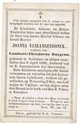 Rotselaar: 1860, Joanna Vanlangendonck ( 2 Scans) - Images Religieuses