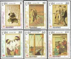 Cuba 3509-3514 (complete Issue) Unmounted Mint / Never Hinged 1991 Works Japanischer Artist - Cuba