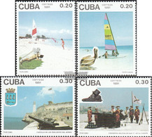 Cuba 3500-3503 (complete Issue) Unmounted Mint / Never Hinged 1991 Tourism - Cuba