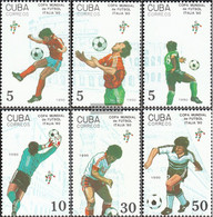 Cuba 3356-3361 (complete Issue) Unmounted Mint / Never Hinged 1990 Football-WM 1990 In Italy - Cuba