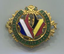 Congres De Brasserie 1900. France / Belgium, Beer Bier Bira, Brewery, Vintage Pin, Badge, Enamel, D 35 X 30 Mm - Beer
