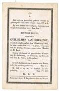 Rotselaar: 1855, Guilielmus Van Criekinge ( 2 Scans) - Images Religieuses