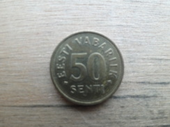 Estonie  50  Senti  1992  Km 24 - Estonie