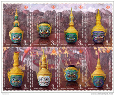 THAILAND - 2014 - THAI HERITAGE CONSERVATION DAY - KHON MASK - MNH ** - Tailandia