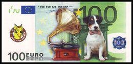 UKRAINE. 2018 - YEAR OF THE DOG. 100 EUR. DOG AND GRAMOPHONE. Funny Pocket Calendar - Calendars