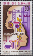 Gabon 362 (complete Issue) Unmounted Mint / Never Hinged 1970 Europafrique - Gabon