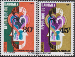 Dahomey 319-320 (complete Issue) Unmounted Mint / Never Hinged 1967 Europafrique - Benin - Dahomey (1960-...)