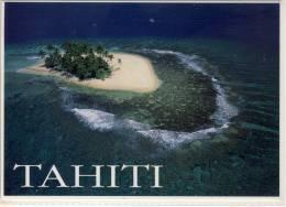 TAHITI  LES MOTU DES ILES HAUTES OFFRENT UN SPECTACLE EXCEPTIONEL VU DU CIEL  NICE STAMP - Postcards
