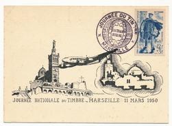FRANCE - Carte Locale Journée Du Timbre 1950 - MARSEILLE - Timbre Facteur - Journée Du Timbre