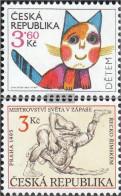 Czech Republic 80,83 (complete Issue) Unmounted Mint / Never Hinged 1995 Children, Wrestling - Czech Republic
