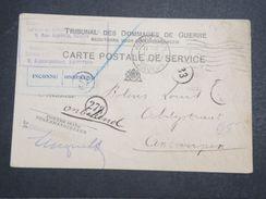 BELGIQUE - Carte Du Tribunal De Dommages De Guerre De Anvers En 1921 , Retour Voir étiquette - L 10352 - België
