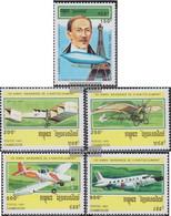 Cambodia 1371-1375 (complete Issue) Unmounted Mint / Never Hinged 1993 Alberto Santos-Dumont - Kambodscha
