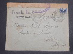 ESPAGNE - Enveloppe De Alginet Pour Blida ( Algérie ) En 1936 , Contrôle Postal De Valence - L 10353 - Republikanische Zensur