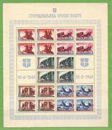 MiNr.94-98 ZD Bogen Xx Deutschland Besetzte Gebiete II.WK Serbien - Besetzungen 1938-45