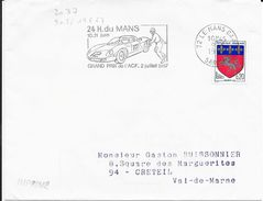 SARTHE 72  -  LE MANS GARE - FLAMME N° 2037 - (VOIR DESCRIPTION)  1967 - - Postmark Collection (Covers)