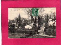 94 Val De Marne, Bécon-les-Bruyères, Rue De Chanzy, Perspective, Animée, 1908, (L'Abeille) - France