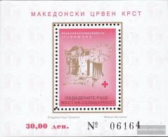Makedonien Z Block20A (complete.issue.) Zwangszuschlagsmarken Unmounted Mint / Never Hinged 1996 Red Cross - Macedonia