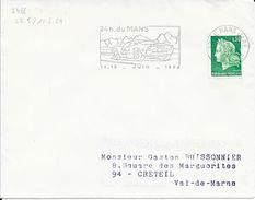 SARTHE 72  -  LE MANS GARE - FLAMME N° 2466 - (VOIR DESCRIPTION)  1969 - - Postmark Collection (Covers)