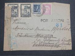 ESPAGNE - Enveloppe ( Retaillée à Droite ) Pour La France En 1938 - L 10357 - Republikanische Zensur