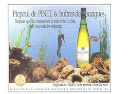 CPSM DE PINET - LE PICPOUL DE PINET ET LES HUITRES DE BOUZIGUES - Other Municipalities