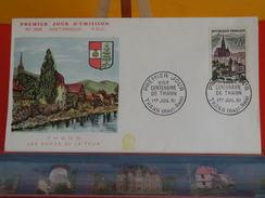 Coté 2,50€ > Les Bords De La Thur > 1.7.1961 > Thann (68) > FDC 1er Jour - FDC