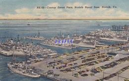 CPSM 9X14  D' AMERIQUE -  CONVOY ESCORT PIERS, NORFOLK NAVAL BASE - Norfolk