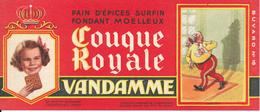 BUVARD - Pain D'Epices VANDAMME, Touque Royale, Louis XVIII - Gingerbread