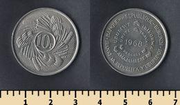 Burundi 10 Francs 1968 - Burundi