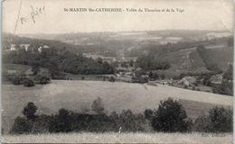 23 Saint Martin Ste Catherine - Vallée Du Thaurion Et De La Vige (état : Pli Coins ) - Other Municipalities