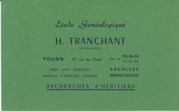 BUVARD - Etude Généalogique H. Tranchant, Tours - Blotters